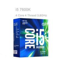 Wholesale Intel Core I5 Desktop - Intel CPU 7Gen Core I5 Series Processor 14nm LGA1151 7600K 7600 7500 7400 4 Core 4 Thread 6MB Cache Dual-channel DDR4 2133 2400