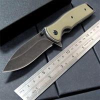 Wholesale Assisted Blade - Kershaw 1329 Assisted Opening Plain Edge Flipper Folding Knife 8Cr13 Blackwash Blade G10 Handle EDC Pocket Knives Original Box 3004063
