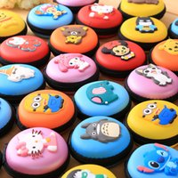 Wholesale Silicone Purse Coin Card Holder - 35 Styles Silicone Cartoon Coin Packet Mini Wallets Cute Lovely Round Shape Coin Purses Holders For Christmas gift