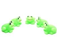 ingrosso bambini galleggianti animali-Baby Bath Toys Acqua Animal Spremere Bambini Vasca da bagno Vasca da bagno Sounding Frog Swim Small Frog Floating Toy
