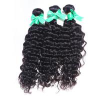 indische verkaufsprodukte großhandel-Indisches gewelltes Menschenhaar 3 Bundle Königin-Haar-Produkt-rohes indisches Gewebe-Verkaufs-tiefes indisches Haar
