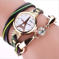 Wholesale Wholesale Striped Leather Watches - Europe and the United States fashion, foreign trade watch striped ladies watch, diamond fashion ladies watch winding, casual quartz watch