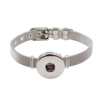 Wholesale Tv Wrist Watches - high quality bracelet noosa chunks stainless steel watch style snap button wrist bracelets women fashion bangle jewelry