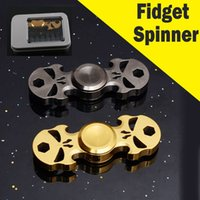 Wholesale led fidget spinner for sale - Kimter Spinner Toy Full Steel Fidget Spinner Lead Hand Fidget Spinner High Speed Bearing ADHD Focus Autism Relief Toys C129L