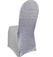 Wholesale Post Desk - Newest Elegant Silver Gold Sequin Chair Covers 45*45*90CM Stretch Wedding Supplies Desk Chair Covers Special Occasion Hotel Chair Covers