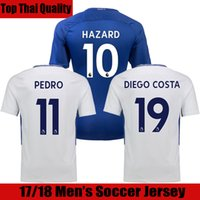Wholesale Wholesale Chelsea Soccer Jerseys - 17 18 HAZARD Chelsea Soccer Jersey 2017 2018 DIEGO COSTA Jersey Home Blue White Willian Pedro Soccer Shirt WILLIAN Football Shirt