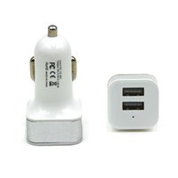 Wholesale brand fuse - 2 Port USB Universal Smart Fuse Circuit-Breaker Protection Dual USB Port 5V 2.1A 1A Car Charger For Apple iphone5 6 Samsung Blackberry