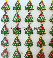 Wholesale Christmas Led Light Brooches - Wholesale-25 pcs lot Christmas tree kids cartoon LED brooch, lighting brooches with pin p-53