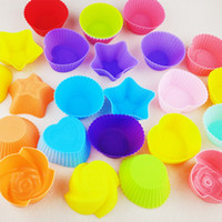 Wholesale High temperature muffin glass small cake mold love flower pudding mold cake mold home baking tools no1