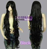Wholesale Extra Long Curly Cosplay Wig - Kanekalon All Color 1.2m Extra Long Curly Cosplay Wigs