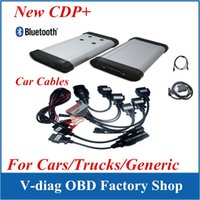Wholesale Car Diagnostic Software Cable - TCS scanner cdp pro plus without Bluetooth +LED cable+ software 2014 R3 with 8 full car cables DHL freeshipping