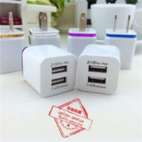 Wholesale Galaxy Power Port - Metal Home Charger US EU Plug Dual USB 2.1A AC Power Adapter Wall Charger Plug 2 Ports For Samsung Galaxy S6 LG Tablet iPad iPhone 6s 7