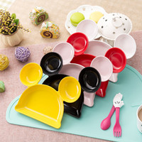 Wholesale Cartoon Plate Tableware Dishes Fruit Bowl Children s Sub grid Dishes Kids Gifts