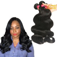 Wholesale Hair Extensions Dyable - Factory Price Unprocessed Malaysian Body Wave 100% Virgin Human Hair Extension Natural Color Dyable Hair Weave Bundles 8-26 Inches