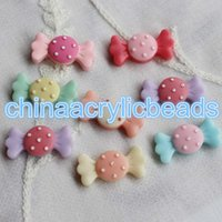 Wholesale Sweet Cabochons - 100pcs Resin Sweet Flatback Candy Cabochons Scrapbook Embellishments DIY Jewelry Making Accessories