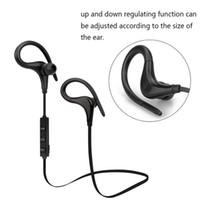 Wholesale Sport Mp3 Headset Ear - Bluetooth Wireless Headphones Ear Hook Fashion Sport Earphones Hifi Stereo MP3 Music Player Earbuds Headset with Microphone S9