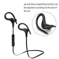 ingrosso cuffie a microfono-Cuffie senza fili Bluetooth Gancio per l'orecchio Moda Sport Auricolari Hifi Stereo MP3 Lettore musicale Auricolari Cuffie con microfono S9
