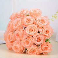 Wholesale Chinese Silk Bulk - The new simulation flower hot wedding simulation plant flowers silk cloth rose fake flowers wedding supplies flowers
