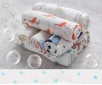 Wholesale Bamboo Blankets Wholesale - 120x120cm Ins flamingo double layer bamboo cotton Bath towel Ins Flamingo Swaddle Blankets Functions Baby Swaddle Blanket