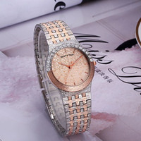 Wholesale Ladies Crystal Fashion Watch - 2017 New Luxury Style Women Watches Fashion Crystal Stainless Steel Quartz Watch For Ladies Femme Montre Relojes De Marca Casual Wristwatch