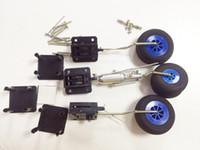 Wholesale Electric Retractable - Original DIY Plane Parts Retractable Landing Gear With Wheels Levers Screws 1KG Tolerance For RC Airplane 3pcs   set