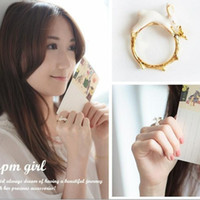 Wholesale European Fashion Style Ring - New sweet style painting oil Jane cute rabbit finger rings European and American fashion rings jewelry explosion models ring