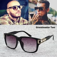 Wholesale Oculos Sol Vintage Masculino - Wholesale- 2016 New Fashion Grandmaster Two Gradient Sunglasses Men Vintage Retro Hip Hop Style Sun Glasses Oculos De Sol Gafas Masculino