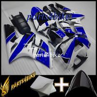 kits de carenado postventa zx6r al por mayor-23colors + Gifts Carenado ABS para Kawasaki ZX6R 03 04 ZX-6R 2003 2004 03 04 azul blanco Aftermarket Plastic Kit