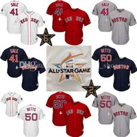 Wholesale Mens Shorts Quick Dry - Mens Boston Red Sox 41 Chris Sale 50 Mookie Betts 2017 MLB All-Star Cool Base baseball Jersey David Ortiz Dustin Pedroia Andrew BenintendiMe