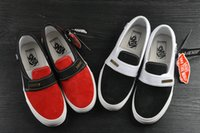 Wholesale Canvas Straps - 2018 Fear of God x Vans Sneakers Women Men Low Cut Era Casual Shoes Fashion Red Black lovers Canvas Designer Brand Sneakers 35-44