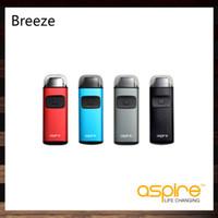 ingrosso aspirare le batterie-Aspire Breeze Kit dispositivo all-in-one Aio System Con 650mah Batteria Serbatoio 2ml U-tech Bobina per Flavorful Vape 100% originale