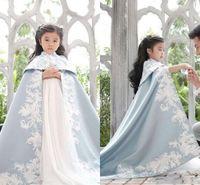 çocuklar ceketi ceketi toptan satış-Nakış kızlar pageant Elbise Düğün Ceket Çocuk Düğün Pelerin Pelerin Gelin Bolero Shrug Dubai Abaya Çocuklar Gelin Sarar Sadece satış pelerin