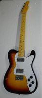 Wholesale Electric Hollowbody Guitars - Semi hollowbody tl electric guitar 2v2t Mertal pickup cover Sunburst color can custom Custom shop free shipping