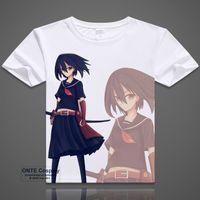 Wholesale Ga Prints - Anime Akame Ga Kill T-shirts Cosplay Printed Tatsumi Short Sleeve T shirts Mine Tops Casual Tees Akame Summer Tshirt