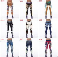 Wholesale Football Team Women Leggings Football Club Womens d Printed Leggings for Women Workout Tracksuit Yoga Stretch Tights Sport Leggings