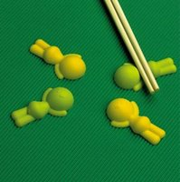 ingrosso bacchette di silicone-Le persone distese hanno modellato il resto del bacchette Cuscino multicolore delle bacchette del silicone Forniture creative della casa e della cucina Trasporto libero
