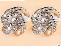 Wholesale Pearl Diamond Earings - chaming 925 silver inlay diamond pearl lady's earings (88) dfsf