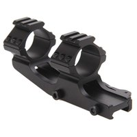 Wholesale Rails Double - Rifle Scope Mount 25.4mm 30mm Quick Release Double Scope Rings Dual Ring Cantilever Scope Mount 20mm Rail Mount