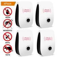 Wholesale ultrasonic electronic repeller resale online - Pest Soldier Pest Control Ultrasonic Repellent Electronic Plug In Repeller for Insect White
