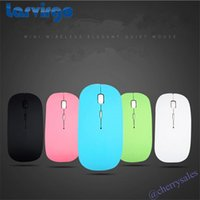 Larvirgo Ultrathin Mouse Wireless 2.4GHz Laser Gaming Mouse Computer con ricevitore USB Mouse per MacBook Macbook Mac Mice