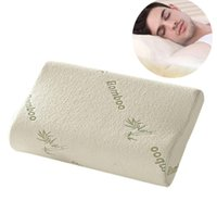 Wholesale Pillow Fiber - Wholesale- Top Quality Bamboo Fiber Pillow Slow Rebound Memory Foam Pillow Health Care Pillow Massager Reduce Neck Fatigue Free Shipping