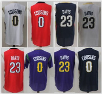 Wholesale Demarcus Cousins Jersey - 23 Anthony Davis 0 0 DeMarcus Cousins Jerseys Adult boy Shirts Stitched Jerseys top Quanlity Mix Order