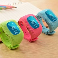 Wholesale Security Fitness - Wholesale- High-tech Wristband Child Smart Watch Tracking SOS Help Security Device for Kids Children Smart Watch