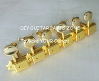 Wholesale Gold Tuning Heads - guitar parts 6pcs in line Gold Kluson style guitar tuning keys 8mm vintage guitar machine heads