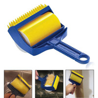 Новый дизайн Drop Shipping 2PCS / set Многоразовый Sticky Buddy Picker Cleaner Lint Roller Pet Remover Brush Cleaning Brush Dust