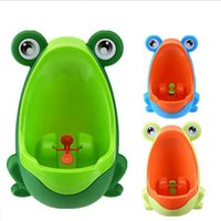 potty training boys peeing 2018 - Cartoon Children Frog Toilet Training Kids Urinal Plastic for Boys Pee Baby Potty Wall-Mounted Kids Toilet Portable Potty Boy Urinals