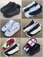 Wholesale Reflect Color - Baby Boys New Retro 13 OG Black Cat Children KIDS Youth Basketball Shoes 3M Reflect 13s Black Cat Athletics Sports Sneakers EU22-27