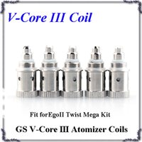 Wholesale gs ego twist mega kit for sale - Group buy GS V Core III Atomizer coils H2S V Core Bottom Dual Heating Coil ohm Fit Ego II Twist Mega Kits Atomizer