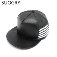 Wholesale Dragon Fans - Wholesale- KPOP Hot Bigbang G-dragon GD Same Style Snapback PU Leather Hat Vocal Concert Support Fan Cap