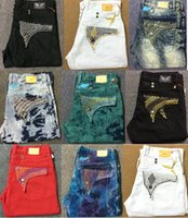 Wholesale Cowboy Jeans For Men - 2017 New robin jeans for men Slim denim Straight in Jeans cowboy high fashion designer famous brand mens white american flag jeans